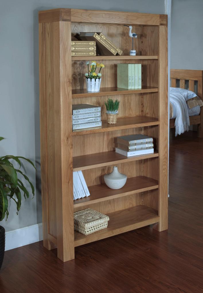 Santana Blonde Oak Bookcase With 4 Adjustable Shelves Larger Image