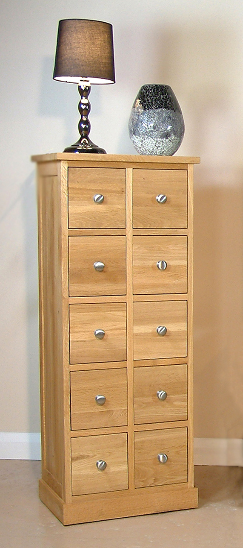 mobel oak multi drawer storage chest larger image