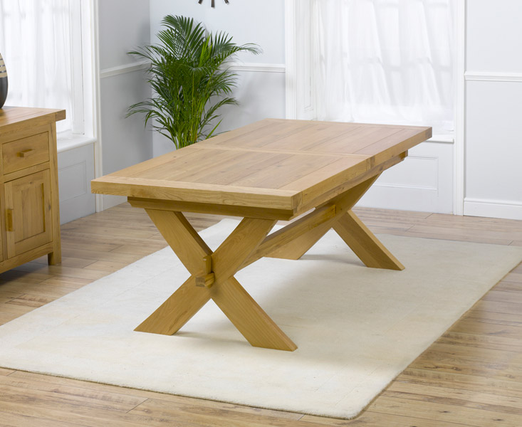 Antwerp Oak Extending Dining Table 160cm To 200cm Table Only
