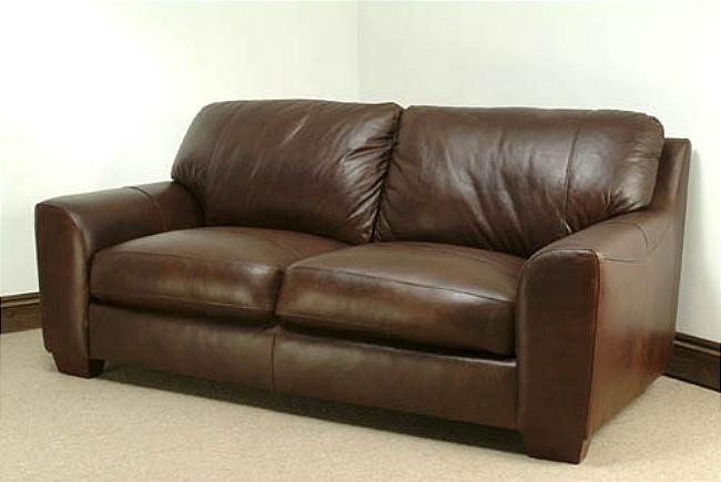 Eaton Leather Sofa - 3 Seater - Brown Analine Leather Eaton ...